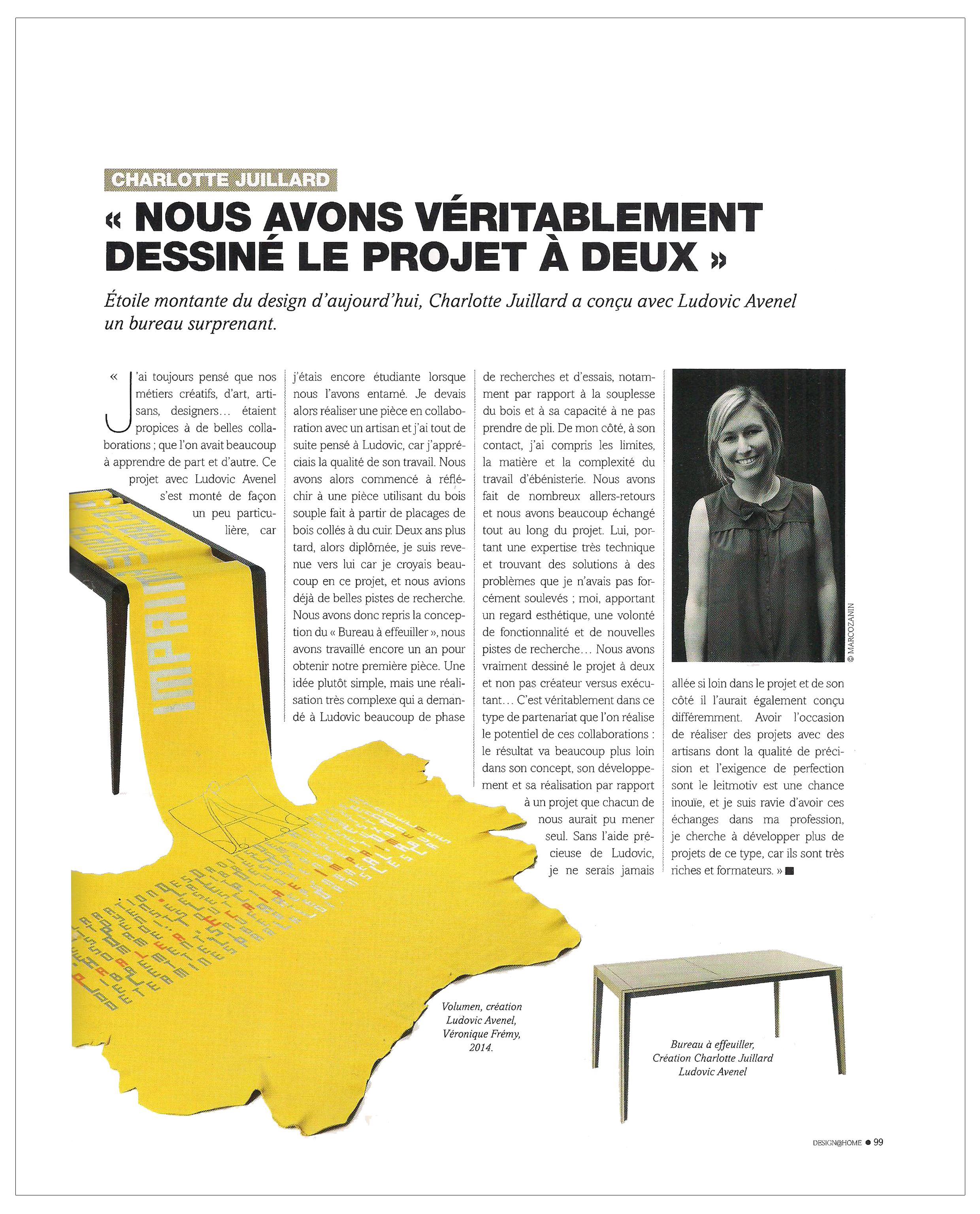 Ludovic AVENEL : ébéniste créateur Paris - Ludovic_Avenel_press_Design_Home_ebeniste_créateur_design_sur mesure_5