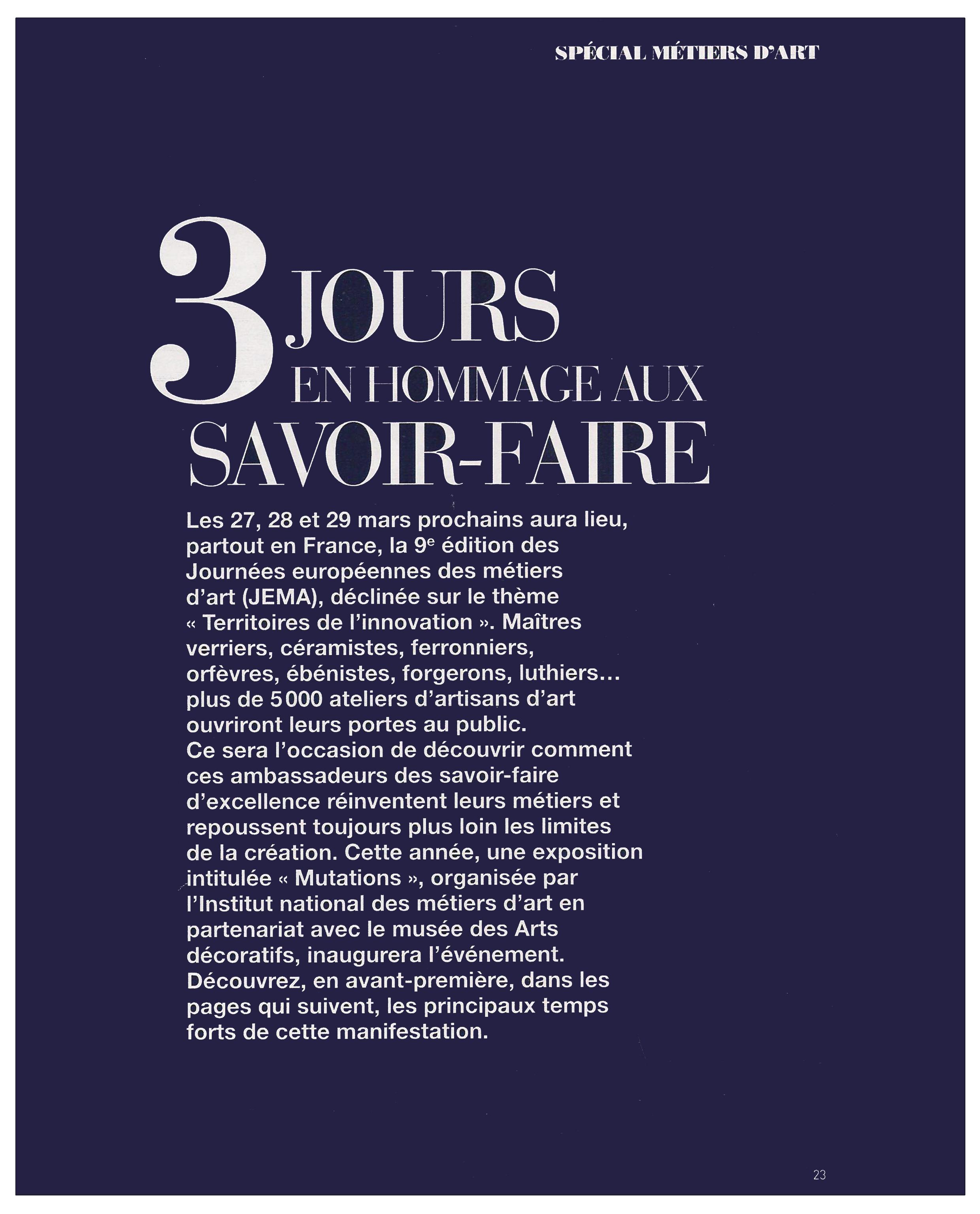 Ludovic AVENEL : ébéniste créateur - Ludovic_Avenel_press_art_&_décoration_ebeniste_créateur_design_sur mesure_2