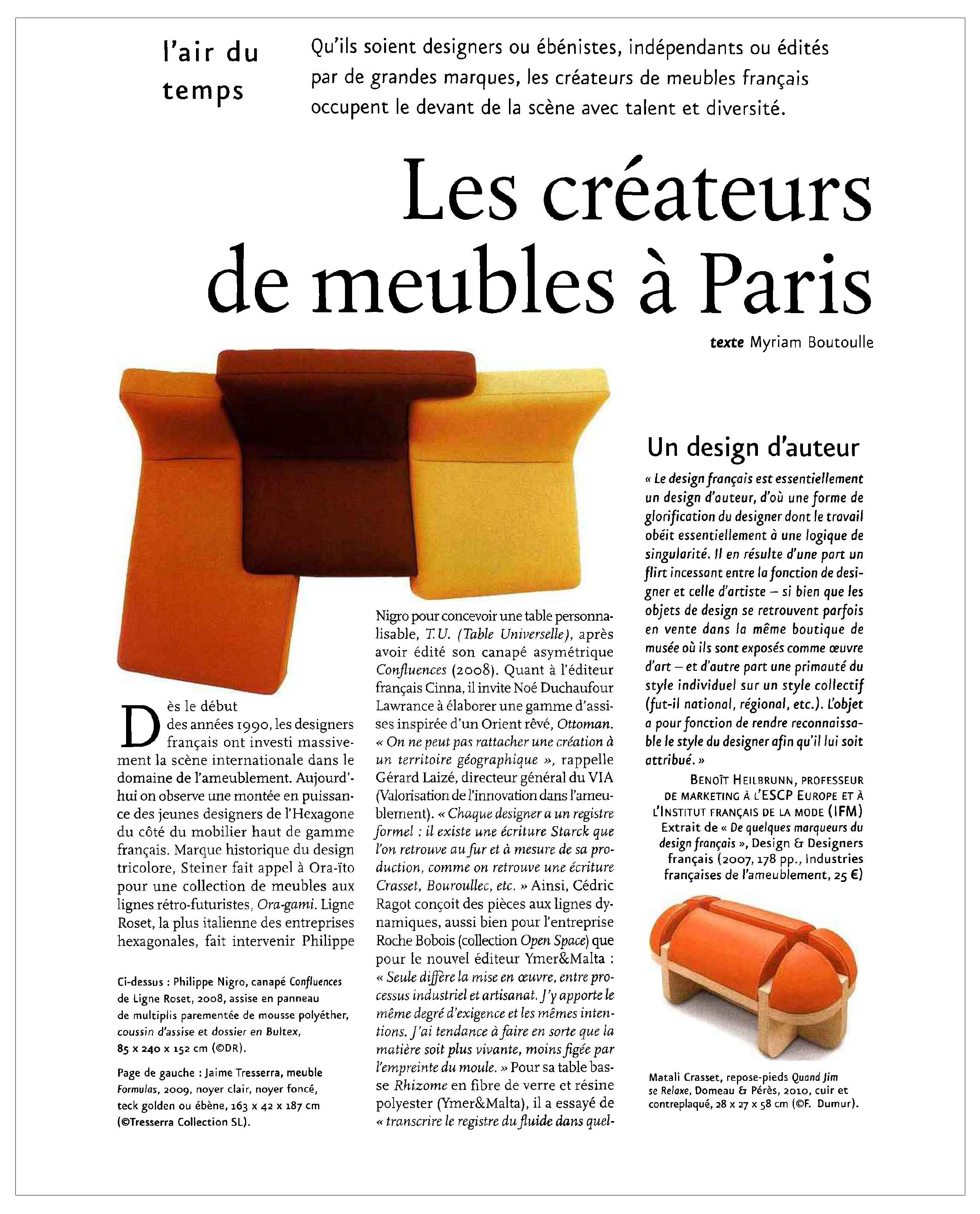 Ludovic AVENEL : ébéniste créateur Paris - Ludovic_Avenel_press_connaissance_des_arts_ebeniste_créateur_design_sur mesure_3