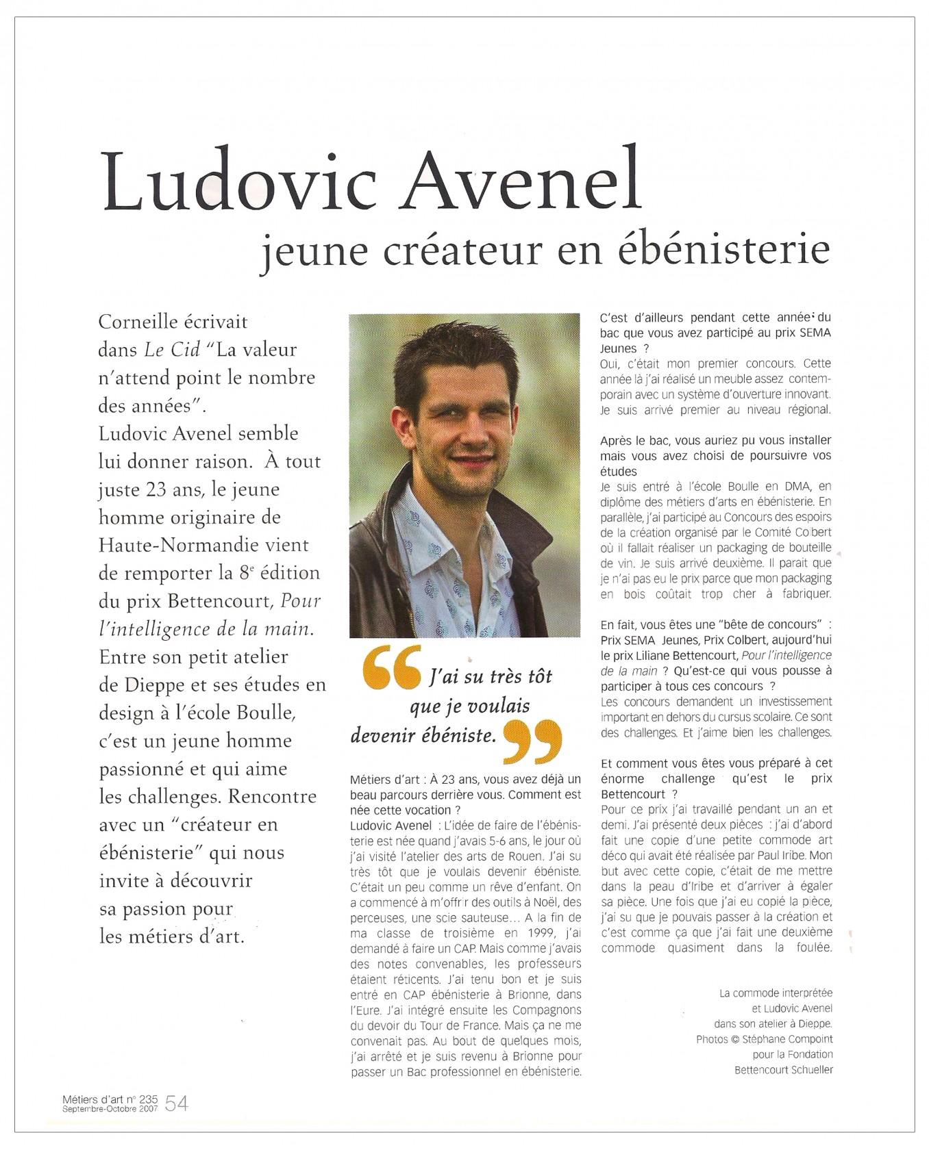 Ludovic AVENEL : ébéniste créateur - Ludovic_Avenel_press_métiers d'art_ebeniste_créateur_design_sur mesure_2