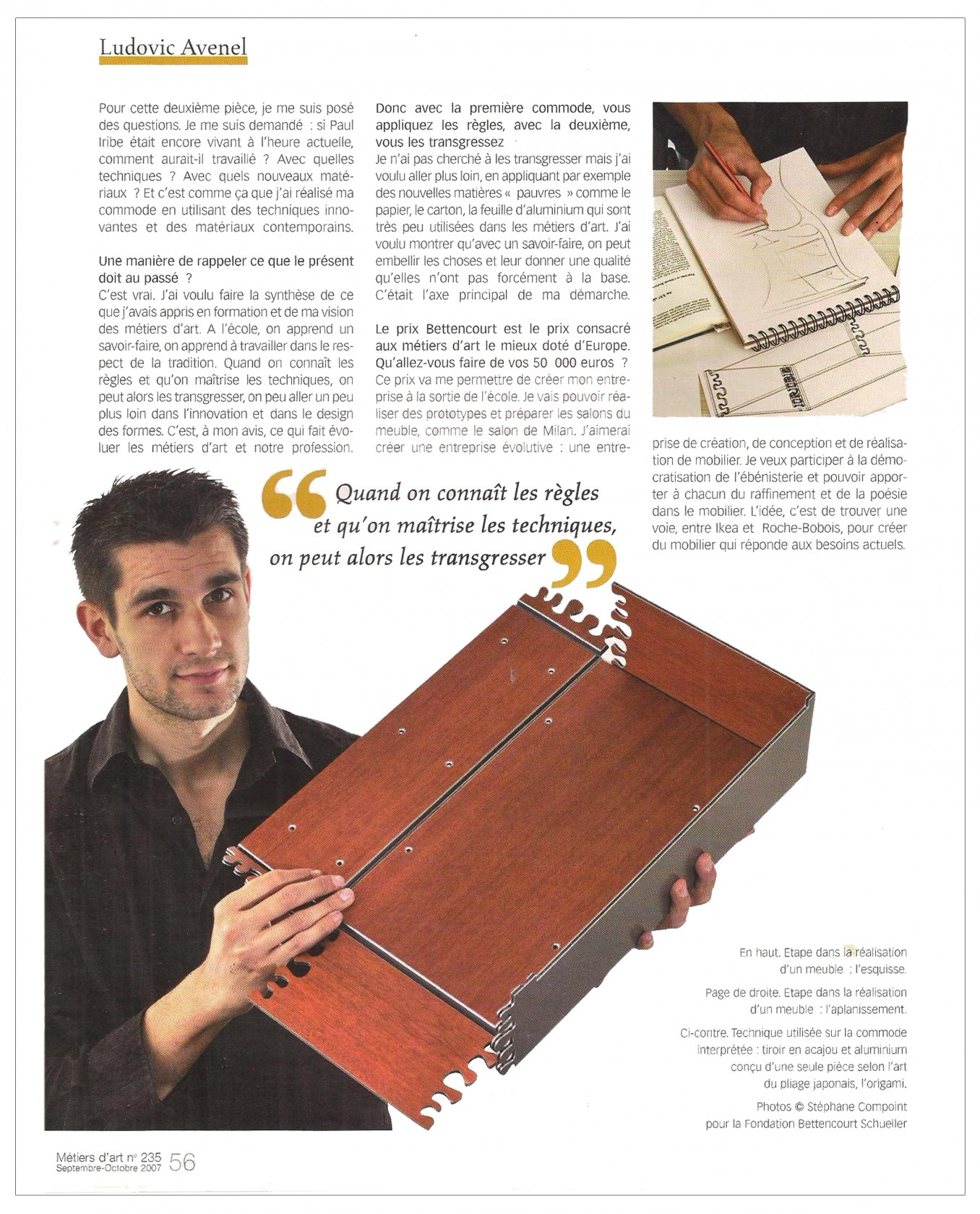 Ludovic AVENEL : ébéniste créateur Paris - Ludovic_Avenel_press_métiers d'art_ebeniste_créateur_design_sur mesure_4