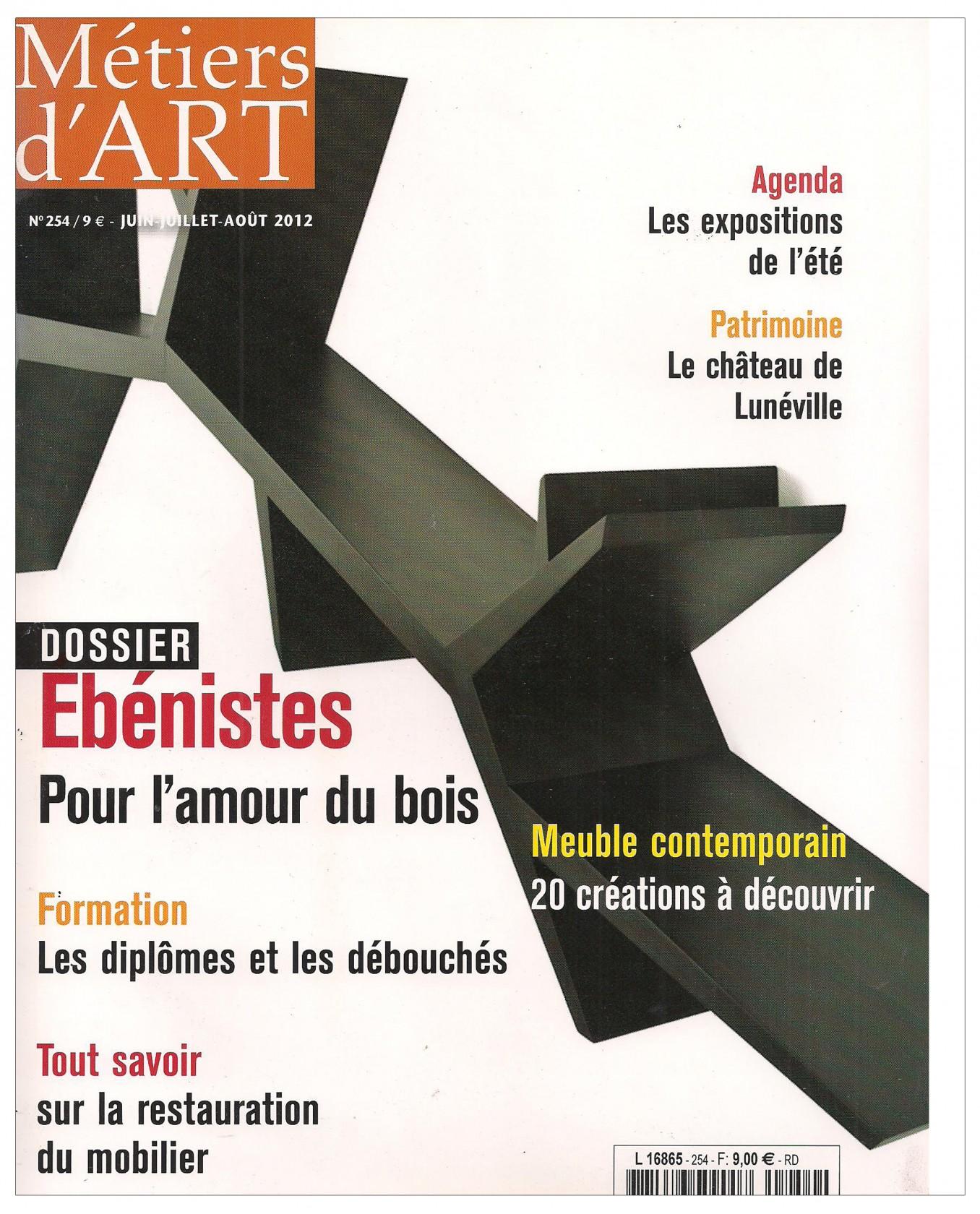 Ludovic AVENEL : ébéniste créateur Paris - Ludovic_Avenel_press_métiers d'art_ebeniste_créateur_design_sur mesure_8
