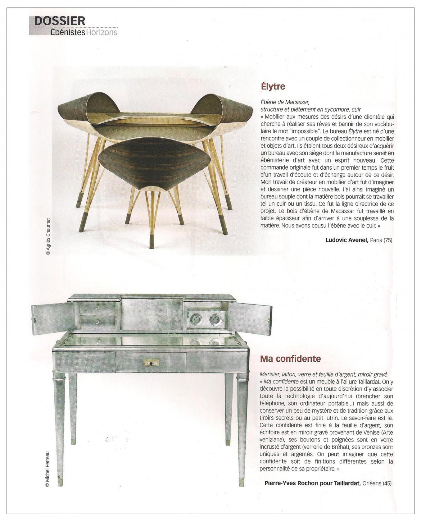Ludovic AVENEL : ébéniste créateur Paris - Ludovic_Avenel_press_métiers d'art_ebeniste_créateur_design_sur mesure_9