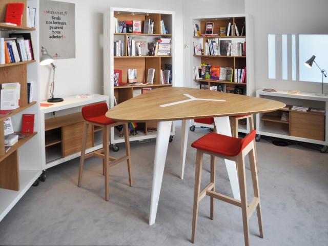 Ludovic AVENEL : ébéniste créateur Paris -  Ludovic_Avenel_aménagement_studio_Mediapart (2)