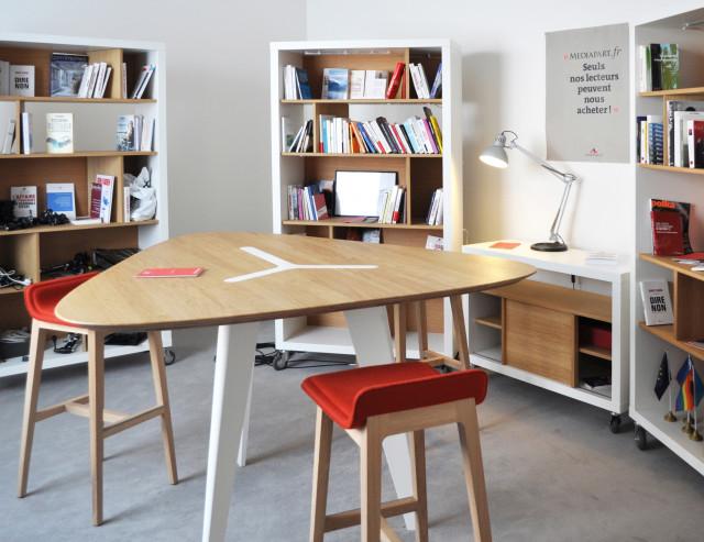 Ludovic AVENEL : ébéniste créateur Paris -  Ludovic_Avenel_aménagement_studio_Mediapart (5)