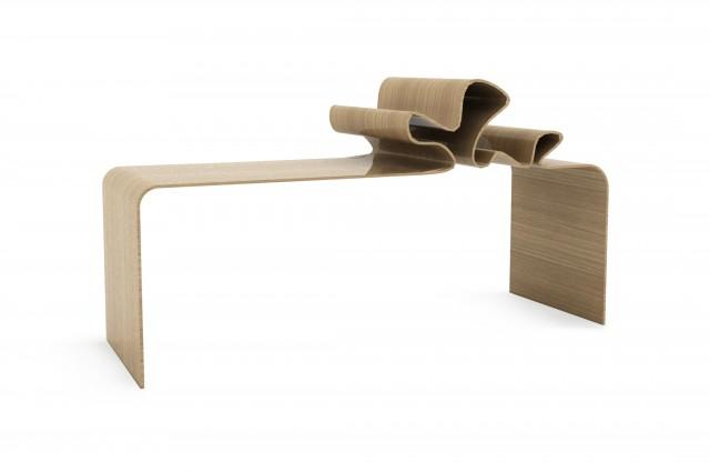 Ludovic AVENEL cabinet maker Paris -  Ludovic_Avenel_bureau_ruban_créateur_design_sur mesure_2