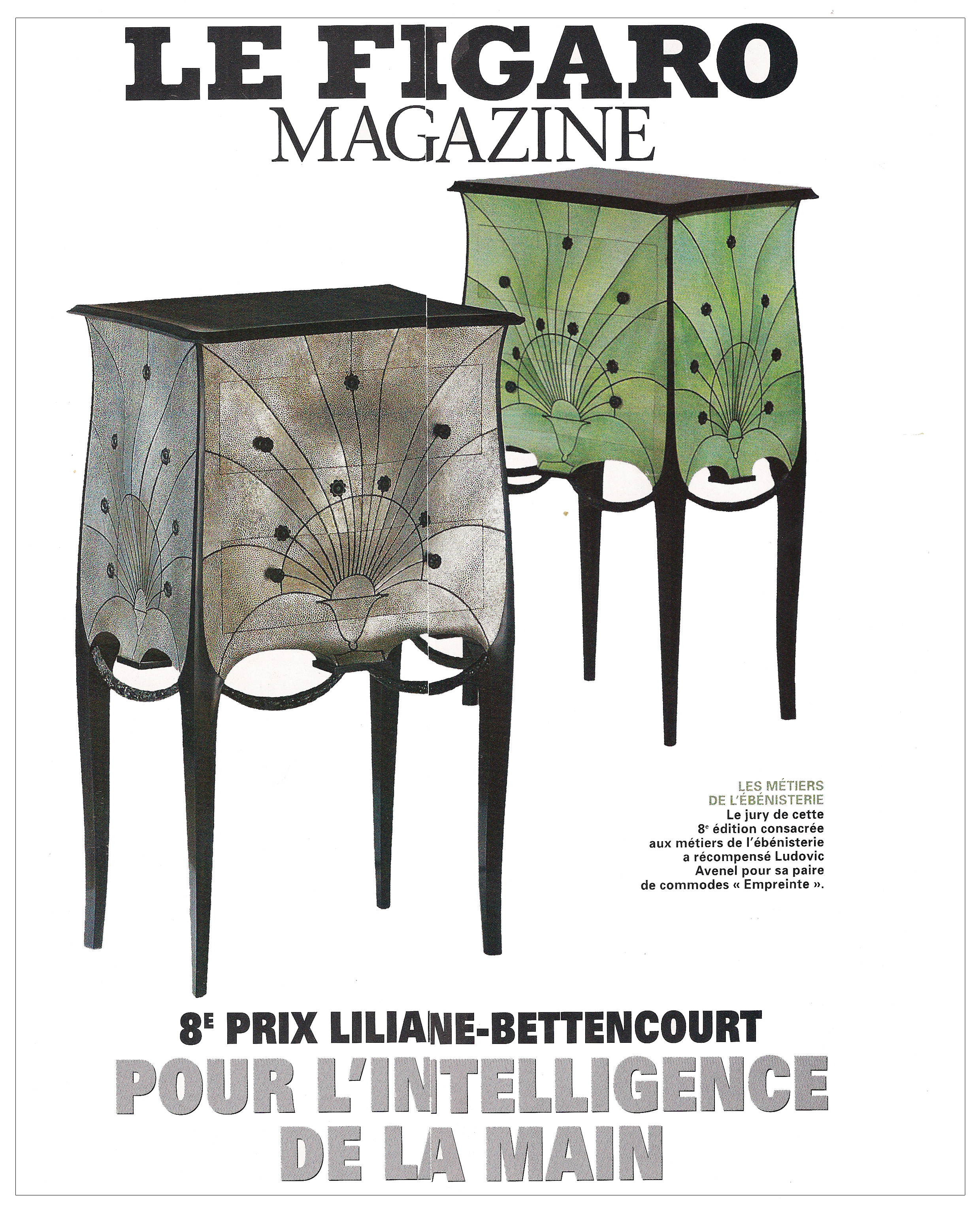 Ludovic AVENEL cabinet maker Paris - Ludovic_Avenel_press_le figaro_ebeniste_créateur_design_sur mesure_1