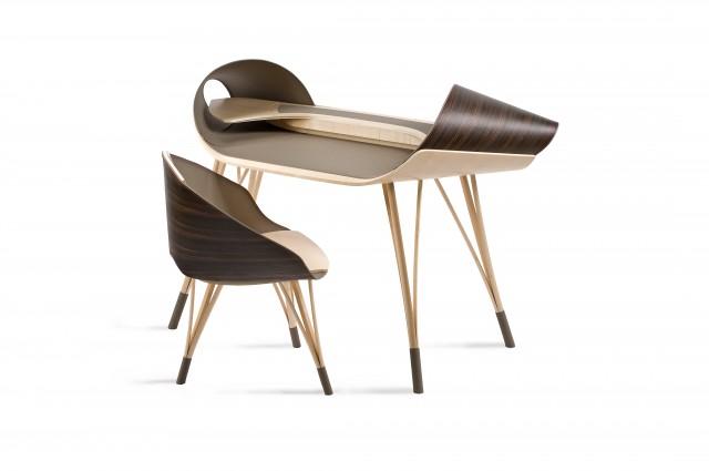 Ludovic AVENEL cabinet maker Paris -  Ludovic_Avenel_bureau_elytre_ebeniste_créateur_design_sur mesure_1