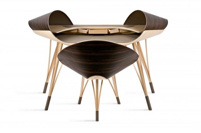 Ludovic AVENEL cabinet maker Paris -  Ludovic_Avenel_bureau_elytre_ebeniste_créateur_design_sur mesure_2