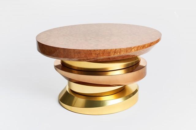 Ludovic AVENEL cabinet maker Paris -  Ludovic_Avenel_side_table_galet_ebeniste_créateur_design_sur mesure_1