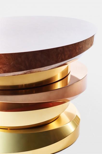 Ludovic AVENEL cabinet maker Paris -  Ludovic_Avenel_side_table_galet_ebeniste_créateur_design_sur mesure_2