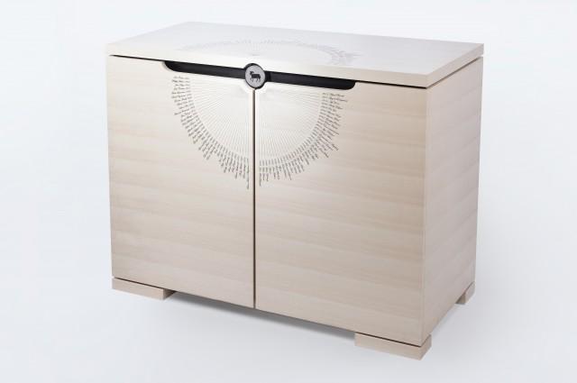 Ludovic AVENEL - Ebéniste Paris - Fabrication de meubles sur mesure -  Ludovic_Avenel_cave_à_vin_l'impératrice_wine_mouton_rothschild_ebeniste_créateur_design_sur mesure_2