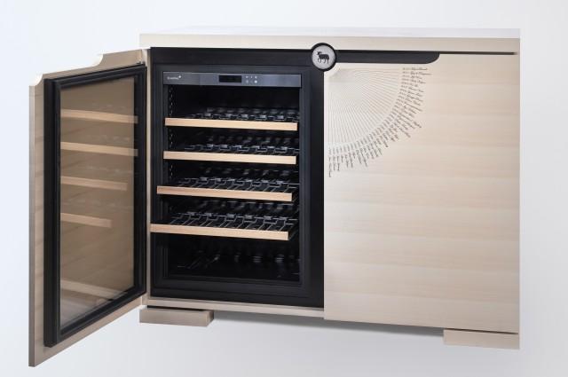 Ludovic AVENEL - Ebéniste Paris - Fabrication de meubles sur mesure -  Ludovic_Avenel_cave_à_vin_l'impératrice_wine_mouton_rothschild_ebeniste_créateur_design_sur mesure_3