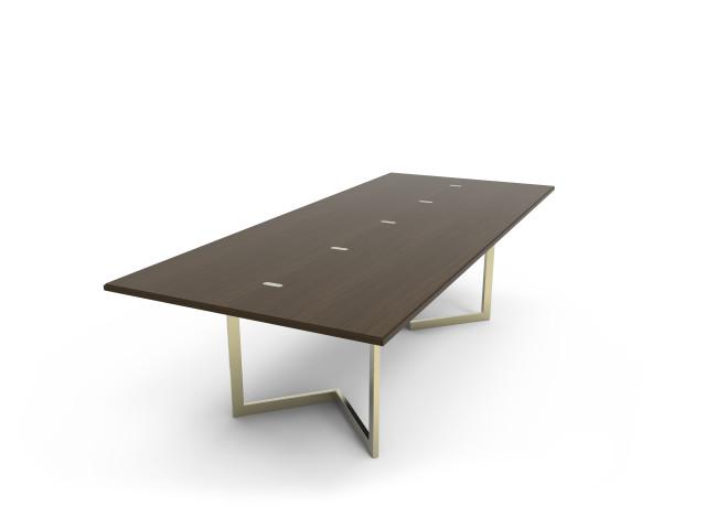 Ludovic AVENEL - Ebéniste Paris - Fabrication de meubles sur mesure -  Ludovic Avenel_table console_chêne des marais_laiton (11)