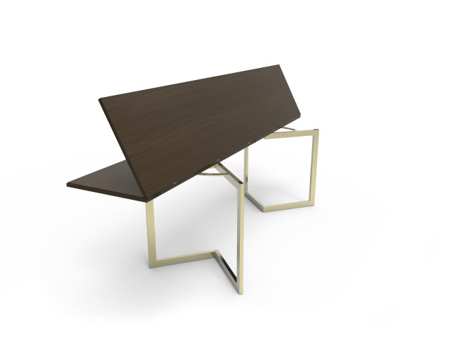Ludovic AVENEL - Ebéniste Paris - Fabrication de meubles sur mesure -  Ludovic Avenel_table console_chêne des marais_laiton (13)