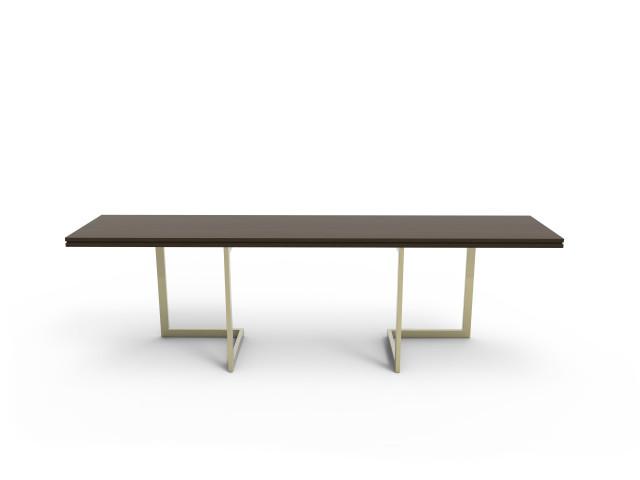 Ludovic AVENEL - Ebéniste Paris - Fabrication de meubles sur mesure -  Ludovic Avenel_table console_chêne des marais_laiton (6)