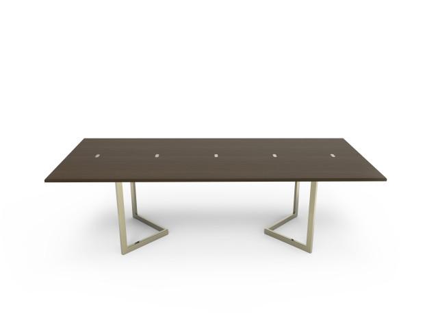 Ludovic AVENEL - Ebéniste Paris - Fabrication de meubles sur mesure -  Ludovic Avenel_table console_chêne des marais_laiton (7)