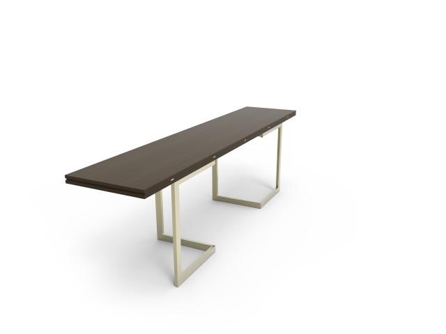 Ludovic AVENEL - Ebéniste Paris - Fabrication de meubles sur mesure -  Ludovic Avenel_table console_chêne des marais_laiton (8)