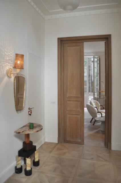 Ludovic AVENEL cabinet maker Paris -  Porte d'entrée sur mesure ébéniste Paris Ludovic Avenel