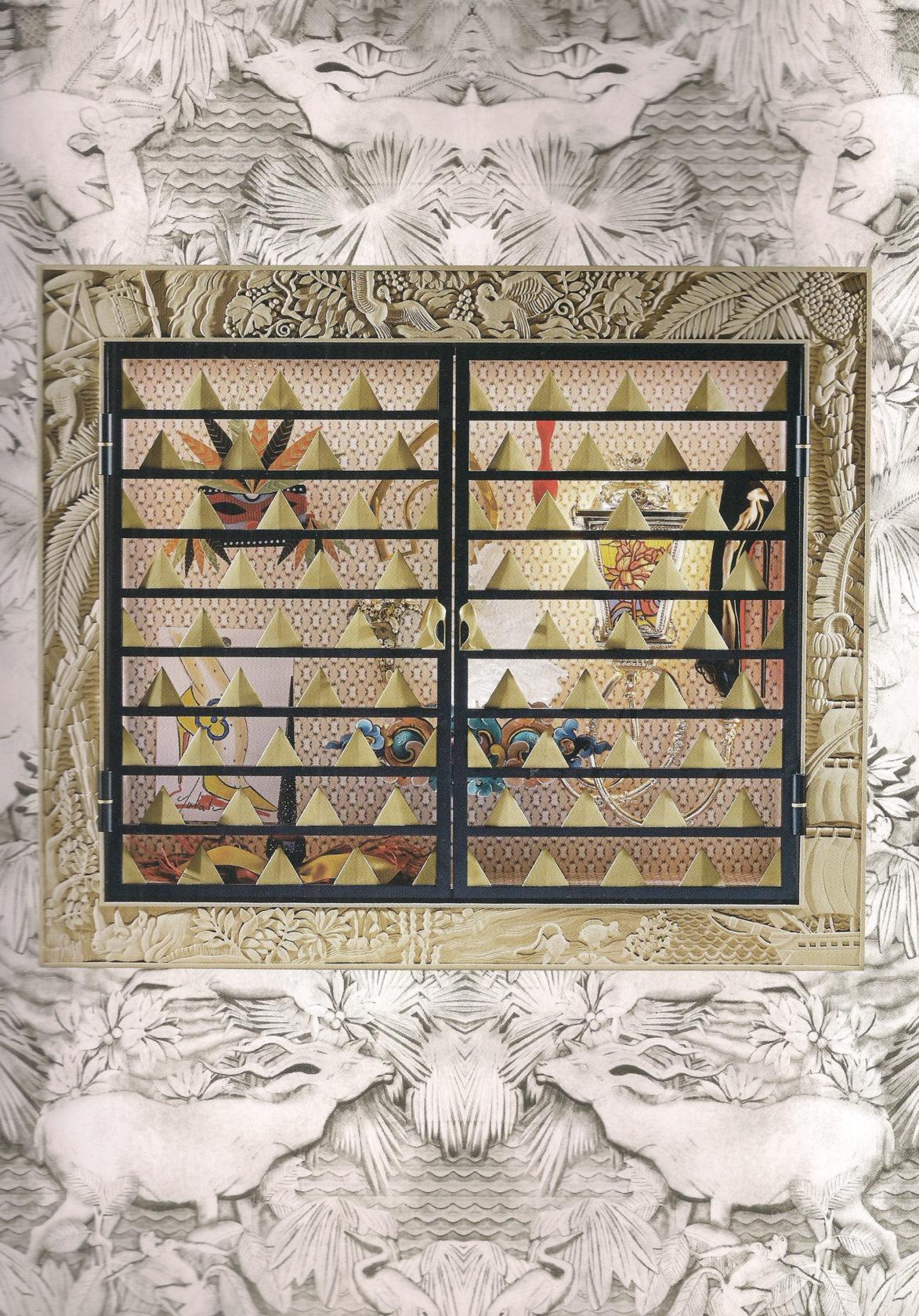 Ludovic AVENEL cabinet maker Paris -  Louboutin exposition cabinet de curiosité