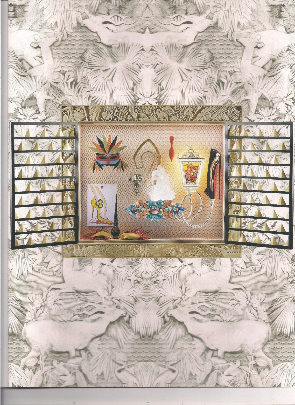 Ludovic AVENEL cabinet maker Paris -  Louboutin exposition cabinet de curiosité 2