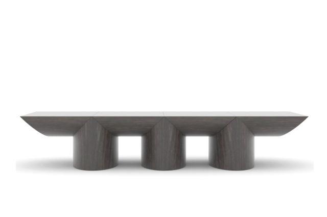Ludovic AVENEL cabinet maker Paris -  Table basse chêne fumé Ludovic Avenel 3