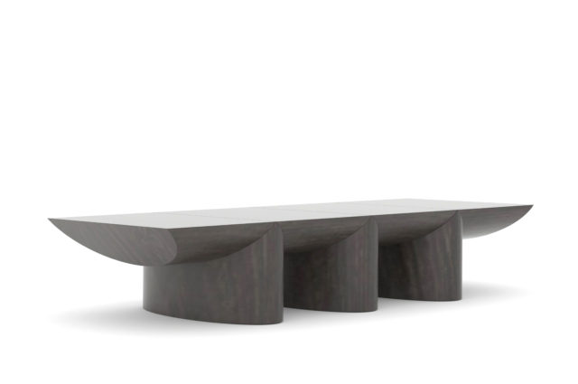 Ludovic AVENEL cabinet maker Paris -  Table basse chêne fumé Ludovic Avenel 7